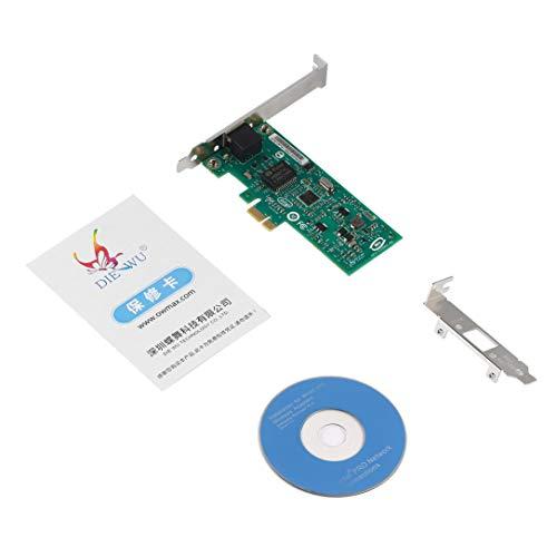 sdfghzsedfgsdfg DIEWU 82574L Gigabit-Ethernet-Netzwerkkarte PCI-E RJ45-LAN-Adapter 1000 Mbps Diskless Boot mit Schutz Für Intel Silber und Grün