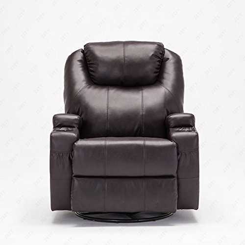 Uenjoy Swivel Chair Leather Functional Electric Massage