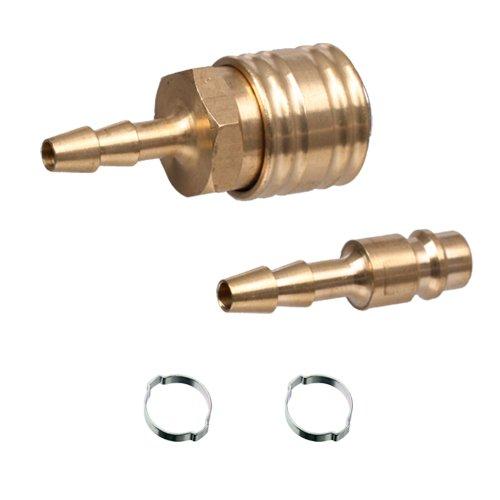 Set Druckluft Kupplung / Stecker LW 6 mm Schlauchtülle