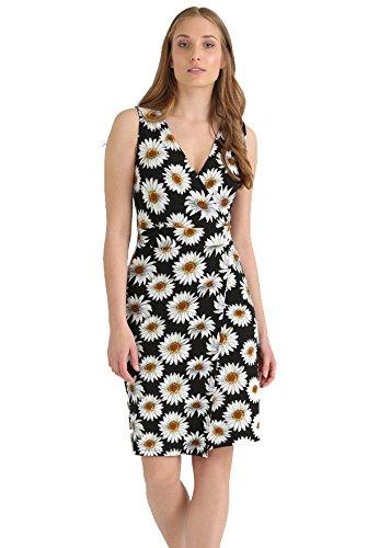 Kleid Knielang, gemustert und kurz für Damen - THE STYLE ROOM - Sommerkleid in Schwarz / Bunt,...