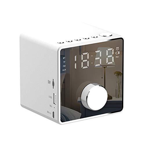 ZYWTZ Bluetooth Lautsprecher, 3600 mAh Batterie mit großer Kapazität, Unterstützung FM Radio Funktion, TF-Karte/U-Diskette Unterstützen, Kompatibel Mit Einer Vielzahl Von Bluetooth-Geräten,White