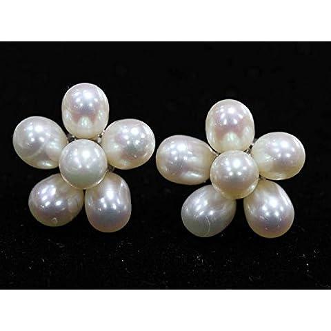Stile bohémien, idea regalo donna con perline a forma di Riso-Orecchini a perno con perline,