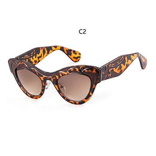 LIUYAWEI Frauen gemalt transparent cat Eye Sonnenbrille Frauen top Designer Marken Mode klarRahmen Sonnenbrille weiblich