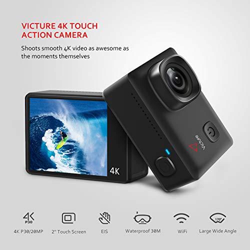 Descripción del Producto: -Busca la victoria a través de la aventura, puedes hacer más de lo que crees. ¡Captura los mejores momentos de tu vida! Calidad de video profesional --- Victure Action Cam 4K grabación de video. Puede grabar 4K P30 / 2.7K P3...