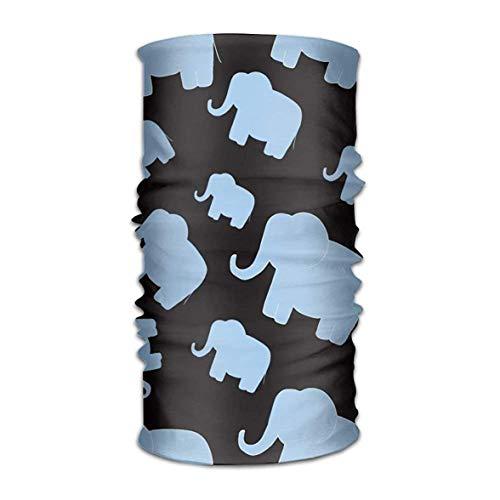 VTXWL Blue Elephant Microfiber Headwear Multifunctional Bandana Facemask Seamless Scarf Mufflers By Outdoor