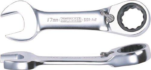KS TOOLS 503.4640 Clé mixte courte à cliquet réversible GEARplus, 17 mm