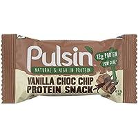 Pulsin' 50-g Vanilla-Choc-Chip - Packung enthält 18 Riegel, 1er Pack (1 x 50 g)