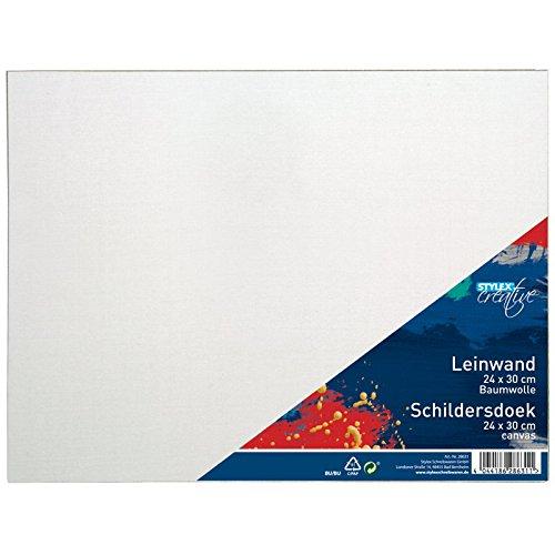 24 Leinwand (Stylex 28631 - Leinwand, Kinder-Bastelsets, 24 x 30 cm)