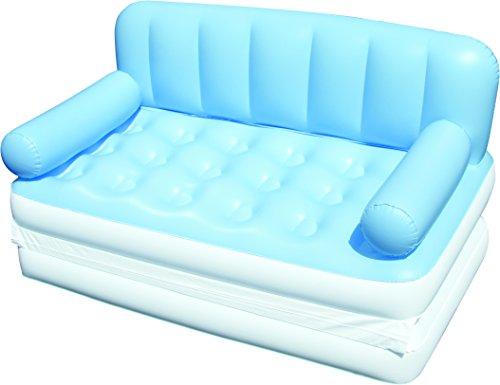 Bestway 75038n divano 5 in 1 con pompa elettrica, misure 188 x 152 x 64 cm, colori assortiti