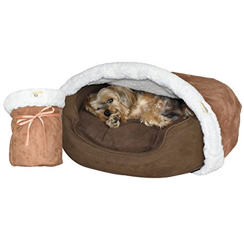 BedHug Best Dog Decke, Katze Decke-legt, Um Ihren Eigenen Haustierbett, Weich Höhle, Bett, Decken, Made in USA, Small, Caramel -