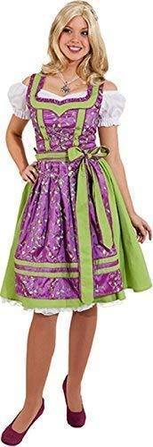 (Fancy Me Damen Deluxe Deutsches Oktoberfest Bayerisches Bier Fest Nationalkostüm Kostüm Kleid Outfit UK 8-20 Übergröße - Grün, UK 16 (EU 44))