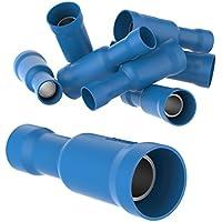 Set Rundsteckh/ülse HELLA 8KW 044 026-812 Leitungsverbinder /Ø 5 mm blau 1,5-2,5 mm/²