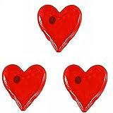 3 er SET ( = 3 Stück ) praktische Taschenwärmer ' HEARTS HERZEN - I LOVE YOU '...