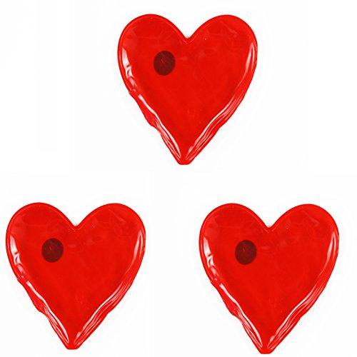 """3 er SET ( = 3 Stück ) praktische Taschenwärmer """" HEARTS HERZEN - I LOVE YOU """" - schnell wieder warme Hände / wiederverwendbar ( 3 schöne große Herzen in einem Sparpaket ) - ideal für Herbst Winter Frühling - Durchmesser bis ca. 12 cm - in Geschenk - Sichtpackung wertig verpackt - auch eine tolle Geschenk-Idee - aus dem KAMACA-SHOP"""