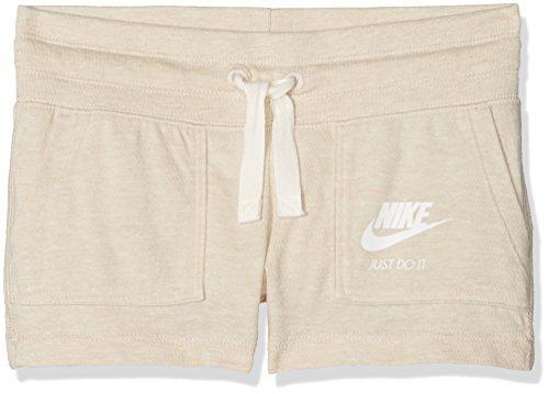 Nike G NSW Gym VNTG Short Shorts, Mädchen XS Beige (Hafer/Segel)