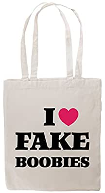 i love fake boobies Tote Bag