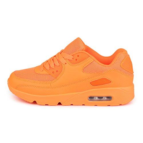 best-boots Unisex Damen Sneaker Fitness Laufschuhe Turnschuhe Runners Neu Orange 4 (fällt kleiner aus)