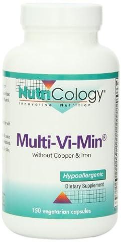 Nutricology/ Allergy Research Group Multi-Vi-Min, No Copper/Iron 150 Caps