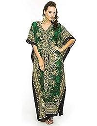 ccfbf41eee Classic Curves Women's Kaftan Dress Beach Cover Up Ladies Kaftan Sleepwear  Polyester Kaftan Night Gown Robe