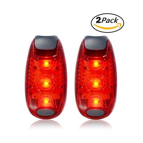 Xcellent Global 2 Pack LED Sicherheitslicht Fahrrad Heck Warnung Nachtzeit Hohe Sichtbarkeit für Läufer, Radfahrer, Spaziergänger, Jogger, Kinder, Hund, Außenaktivitäten Rot+Rot LD097R