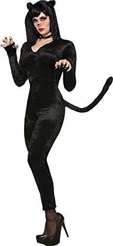 loween Kostüm Party Sly Kätzchen Kostüm schwarz UK Größe 10-14 (Erwachsenen Kätzchen Kostüm)