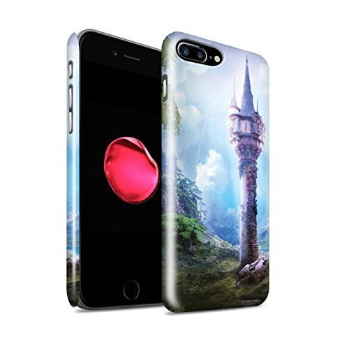 Offiziell Elena Dudina Hülle / Glanz Snap-On Case für Apple iPhone 8 Plus / Tal der Drachen Muster / Fantasie Landschaft Kollektion Magie Turm