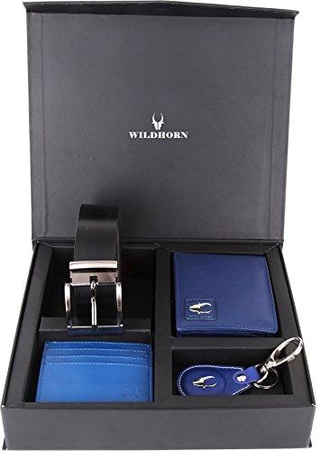WildHorn Blue Men's Wallet (GFTSETBOX 009)