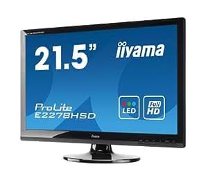 IIYAMA E2278HSD-GB1 21.5 inch Widescreen 1080p Full HD LED Monitor (5ms, VGA/DVI-D)