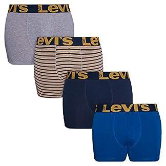 Levi's Calzoncillos Tipo bóxer para Hombre, Transpirables, elásticos, Paquete de 4