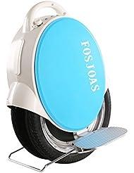 """Run & Roll Two Rabbits - Monociclo eléctrico de doble rueda, color blanco / azul, 14"""""""