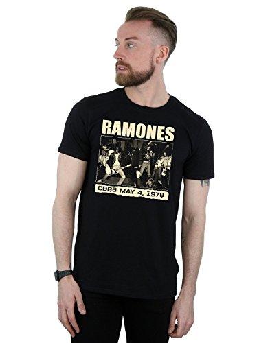 Ramones Herren CBGB 1978 T-Shirt Large Schwarz -