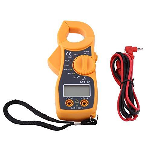 LCD Clamp Multimeter, MT87 AC 20A ~ 400A Digital Volt Tester AC/DC 450V / 6000V Spannungsprüfer Amperemeter Ohmmeter mit Englischem Handbuch 400a Digital Clamp