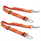 Nosii Sicherheitsgurt-Sicherheitsgurt-Leine-Klipp-Licht-Reflexions-Haustier-Hundesicherheit Auto-Sicherheitsgurt-Sicherheit halten Ihren Hund sicher, wenn Antriebe (Color : Orange)