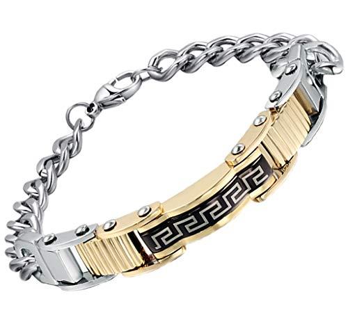 AnazoZ Edelstahl Armband Für Herren Kette Armband Gold Silber The Great Wall ()