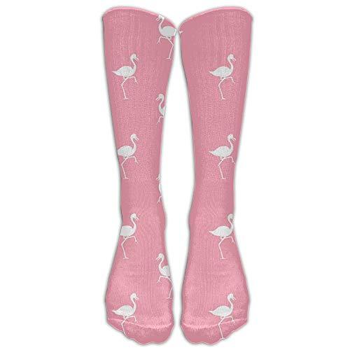 hfdff Flamingo Cotton Stay Soft Kompression Kniestrümpfe Modische Golf Teen Cartoon Knie lange Rohr Crew Socken 19,68 Zoll (50 cm) -