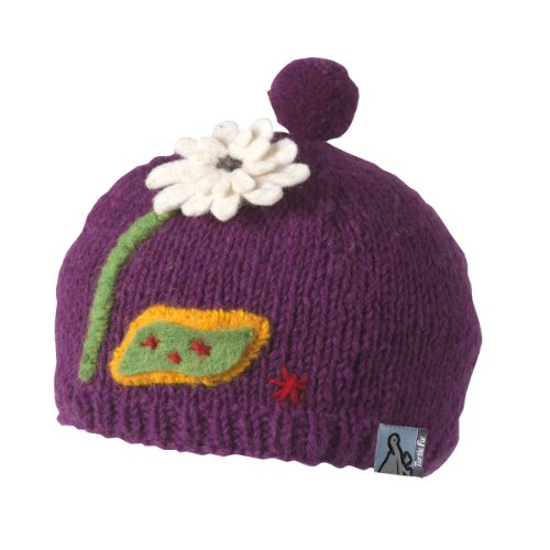 TurtleFur Schildkröte Fell Damen Nepal Zahra Hand Knit Fleece Mütze, damen, violett