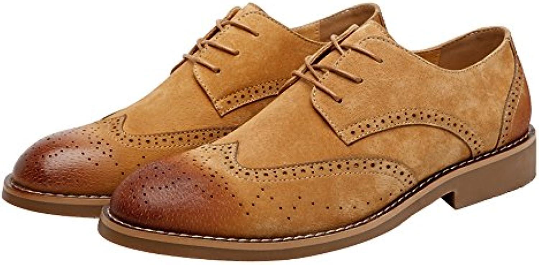 Easy Go Shopping Scarpe di Pelle, Scarpe Scarpe Scarpe da Uomo in Pelle Scarpe Classiche da Lavoro Matte Fodera Traspirante... | Aspetto Attraente  f84d70