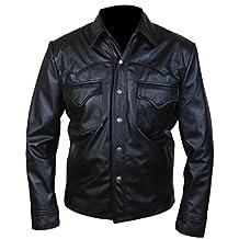F&H Men's Walking Dead David Morrissey Governor Genuine Leather Jacket