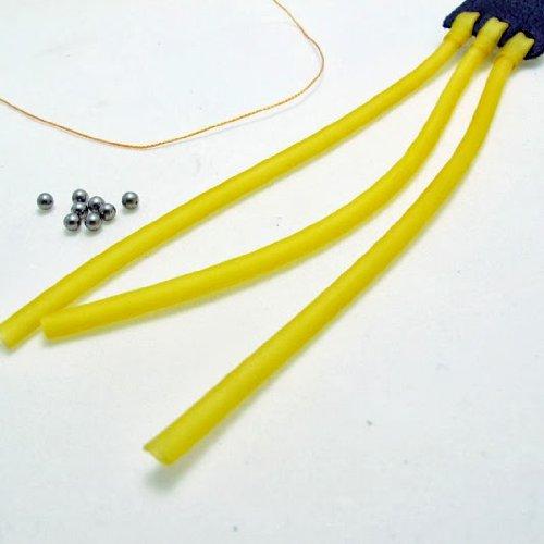 Ersatzgummi für Steinschleuder Zwille Schleuder 3-Streifen-High-Tec-Gummi