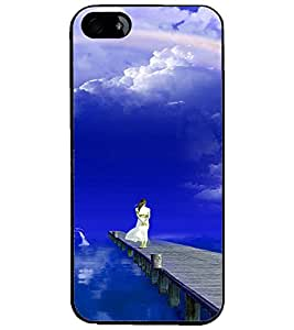 PrintDhaba Stranded Girl D-3286 Back Case Cover for APPLE IPHONE 4S (Multi-Coloured)
