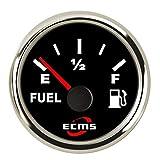 ZJP-Car Instruments 2'indicateur Automatique 0-190ohm de jauge de Niveau de réservoir d'essence et d'huile avec Le Contre-Jour 12V / 24V Dispositif de capteur
