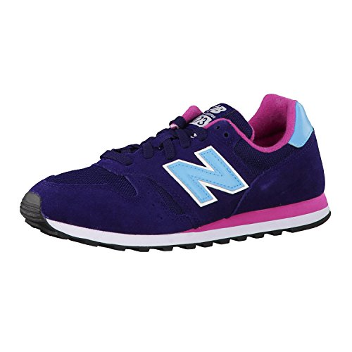 New Balance WL373 Womens Leather & Textile Trainers Dark Blue - 35 EU