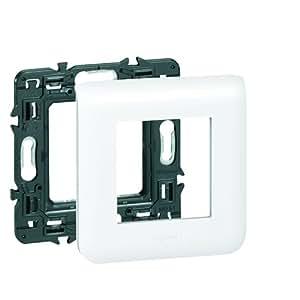 Legrand LEG99672 Plaque support pour 2 modules fixation à griffes Mosaic