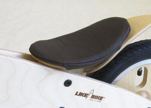 Preisvergleich Produktbild LIKEaBIKE Ersatzteil => Original-Sattelbezug Leder mocca (braun) mit Inlet (KOKUA Like a Bike Sattel)