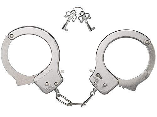 KOSxBO® Metall Handschellen für Kinder, Polizei Handschelle aus Edelstahl mit 2 Schlüssel, zum Räuber und Gendarm Spielen Fasching Kostüme - Mottoparty (Räuber Und Gendarm Kostüm Kinder)