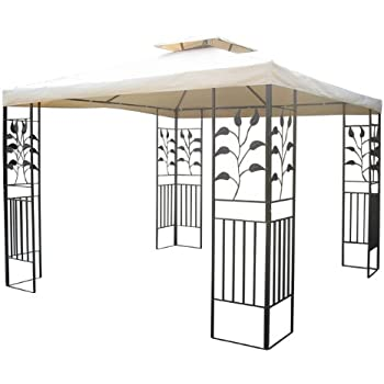 gartenpavillon 3x3m pavillon toscana pavillion beige. Black Bedroom Furniture Sets. Home Design Ideas