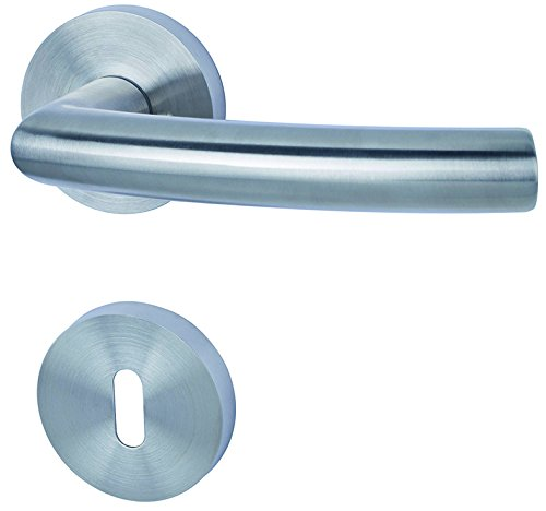 Alpertec 88020300 Edelstahl Kingston II-R für Zimmertüren Drückergarnitur Türdrücker Türbeschläge Neu