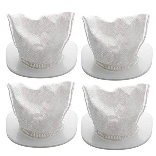 4er-Set Ersatzfilter Filterset Staubsack Filter NUR für Nass & Trocken Handstaubsauger von HoLife, Staubsaugerfilter Staubfilter (Weiß) NICHT geeignet für HoLife 2in1 Stiel-Staubsauger & Handstaubsauger