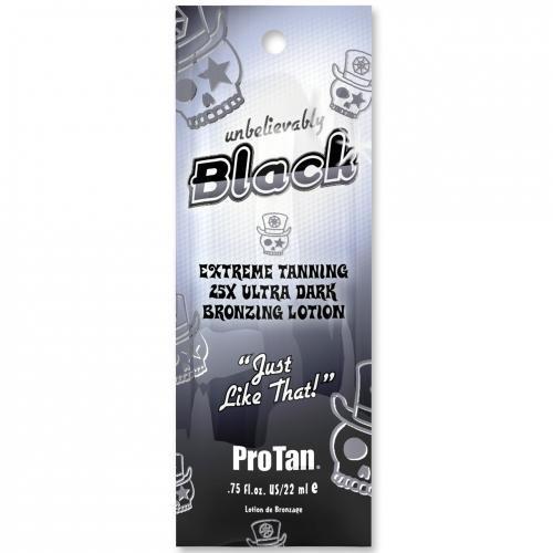 Pro Tan Unbelievably Black - Extreme Tanning 25x Ultra Dark Bronzing Sunbed Lotion 22ml, 1er Pack (1 x 22 ml) -