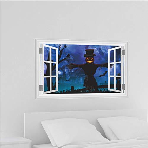 liuyto Nagelneues Glückliches Halloween-Haushalts-Raum-Wand-Aufkleber-Wanddekor-Abziehbild-Entfernbares Terror PVC-Material (Halloween Taschen Glücklichen)